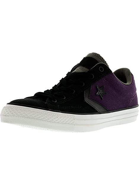 e70aff361be0 Converse Men s Star Player Ox Sneakers Black Elderb 7 M US  Buy Online at  Low Prices in India - Amazon.in