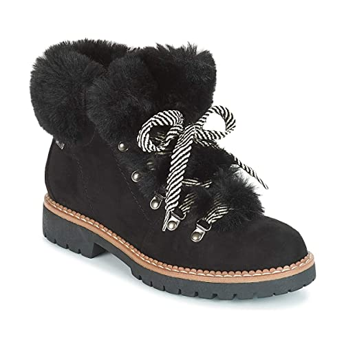 Mtng 57462 Until Negro Bota Cordones con Pelo Mujer: Amazon