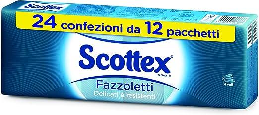 Scottex Fazzoletti Tutti i Giorni 10 Confezioni da 8 Pacchetti 1880 Gr