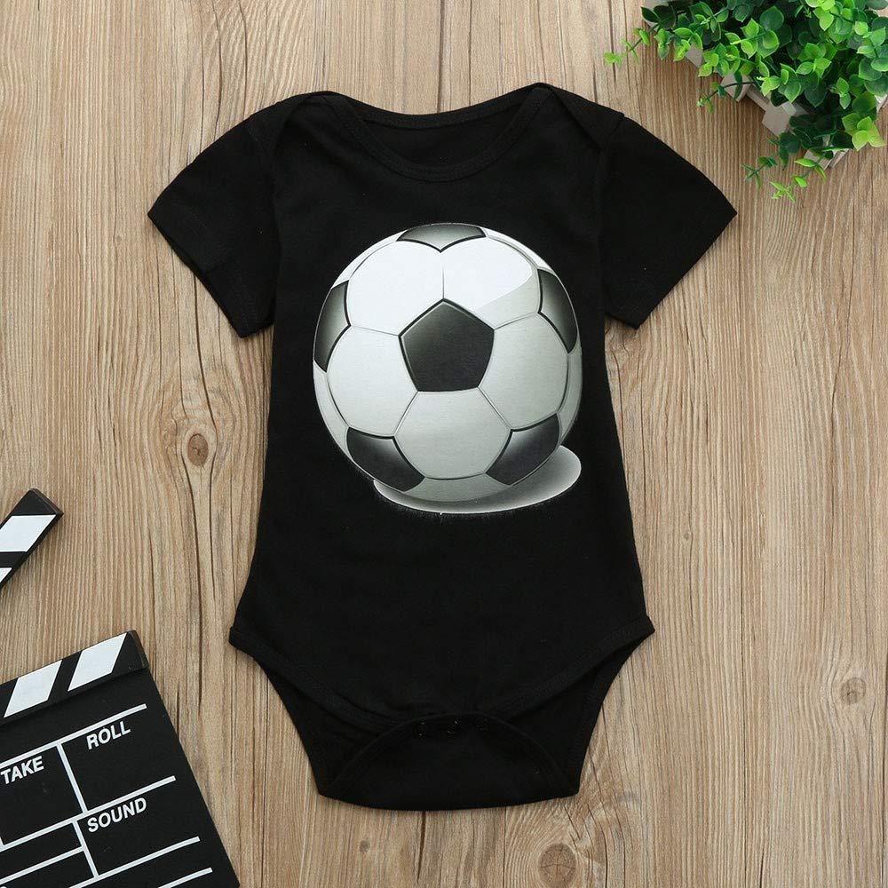 feiXIANG Bebé recién Nacido Niño Primavera Verano Bebé Niño Niña Copa Mundial Copa de fútbol Camiseta de Manga Corta Arnés Una Pieza Infante Recién Nacido: ...