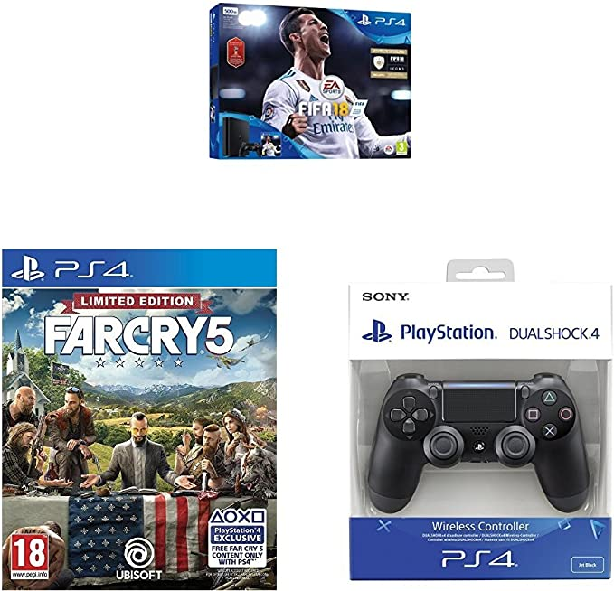 PlayStation 4 (PS4) - Consola 500 GB + FIFA 18 (World Cup) + Far ...