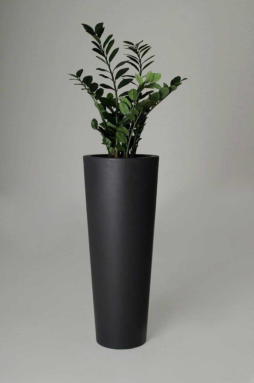 Pflanzkübel Blumenkübel Rondo Classico Kunststoff, 110 cm, Anthrazit