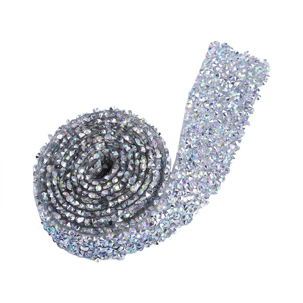 Ab Color 1 Yard Party und Blumenarrangements x 1,18 dekorative Crystal Mesh Wrap Rolle Banding G/ürtel f/ür Hochzeit Diamant Strass Ribbon Kuchen Dekoration