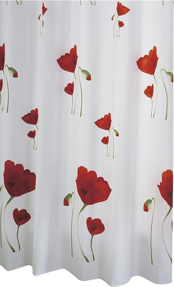 Duschvorhang Waschmaschine 180x180 Textil Wäschetrommel Wannenvorhang mit Ringe