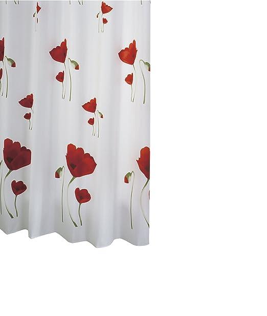 """6 opinioni per Ridder 478000-350 Tenda per doccia """"papavero"""" in tessuto 180x200 cm"""