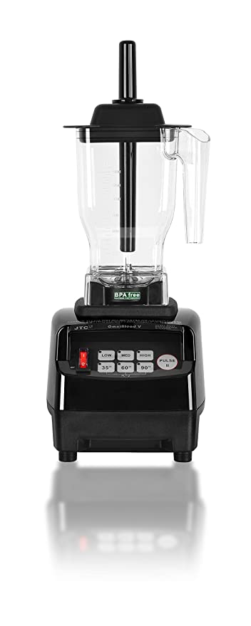 OmniBlend V Commercial Blender for Smoothies Shakes Cocktails, Heavy Duty  3-Speed, Self-Cleaning, Includes Multi-functional 2-in-1 Wet Dry Blades,  1 5