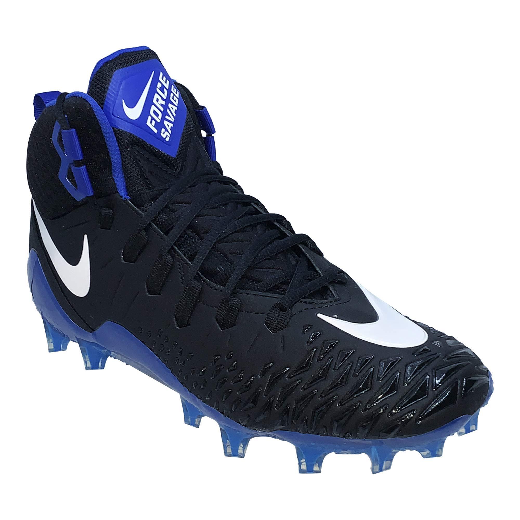 Nike Mens Force Savage Pro Football Cleat (7.5, Black/White/Game Royal)