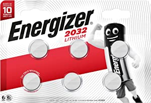 Lot de 6 Piles CR2032 Energizer au Lithium 3 V