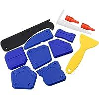 12 Stuks Silicon Sealer Tool Kit Grout Remover Caulking Tool Kit met Plastic Scraper Caulk Nozzle en Caulk Caps voor…