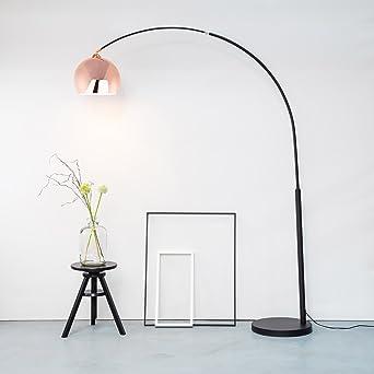 Moderne Kupfer Bogenstehleuchte Bogenlampe Im Retro Lounge Design