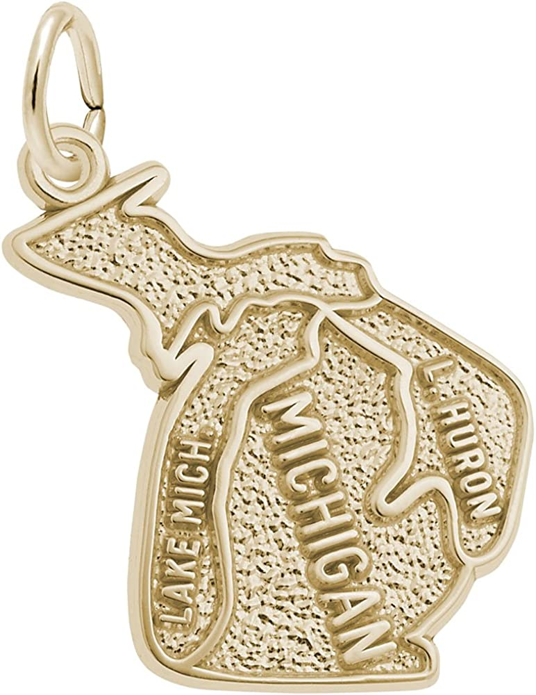 Michigan Charm Charms for Bracelets and Necklaces