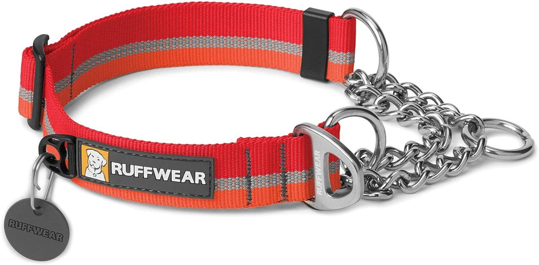 RUFFWEAR - Chain Reaction Collar, Color kokanee Red, Talla S/ 28 ...