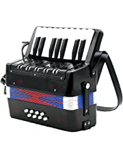 Kids Accordion - SODIAL(R)17-Key 8 Bass Mini Accordion Musical Toy for Kids