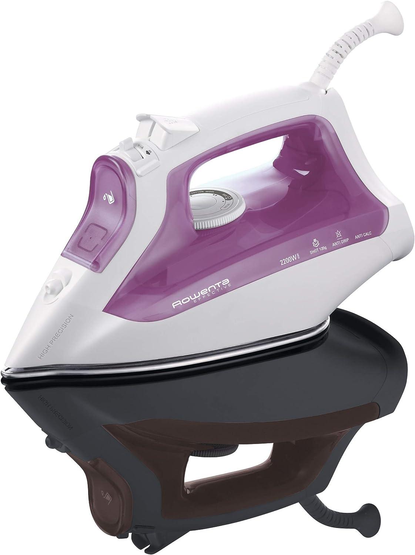 Rowenta Effective DW1122D1 - Plancha de Vapor Sistema antigoteo, Salida Continua de Vapor 35 g/min, Golpe de Vapor 120 g para Eliminar Las Arrugas más difíciles, 2200W - Modo Eco