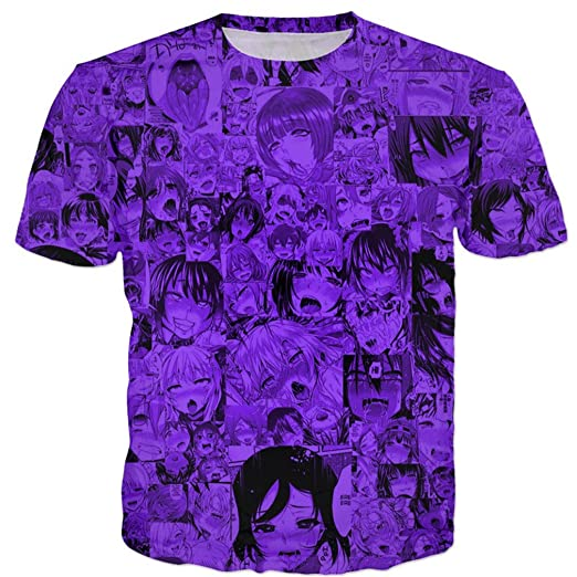 Mayelu T-Shirt Ahegao T ShirtUnisex Hip Hop Tees Tops 3D gráfico Divertido  Anime Tshirt  Amazon.es  Ropa y accesorios a5cafd33f21