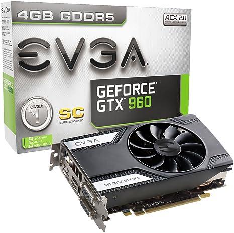 EVGA 04G-P4-1962-KR GeForce GTX 960 4GB GDDR5 - Tarjeta gráfica ...