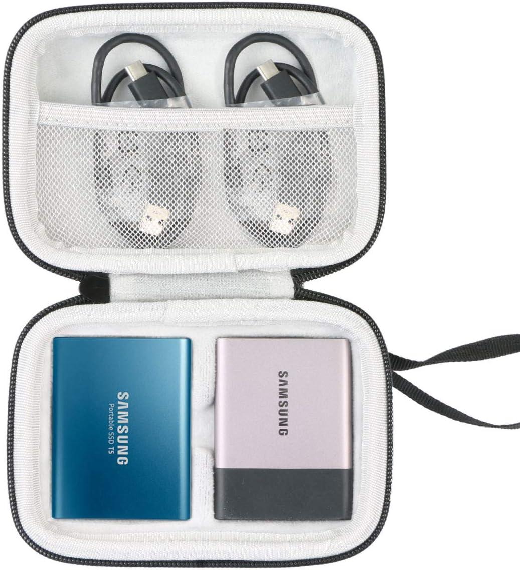 Khanka Duro Viaje Estuche Bolso Funda para Samsung T5 250GB 500GB ...