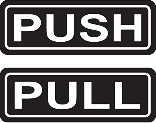 Amazon Push Pull Door Sign 2x6 Sticker Decal Vinyl Business