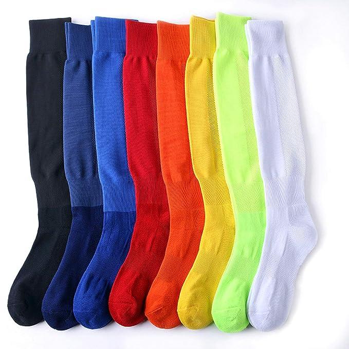 AnaZoz Calcetines Futbol Hombre Calcetines Hombre Calcetines Largo Calcetines Deporte Calcetines Futbol 8 Par Calcetines Multicolor