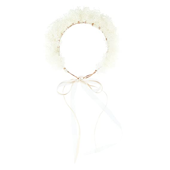 b30310a97a3 HONEY Dried Gypsophila Flower Crown  Amazon.co.uk  Clothing