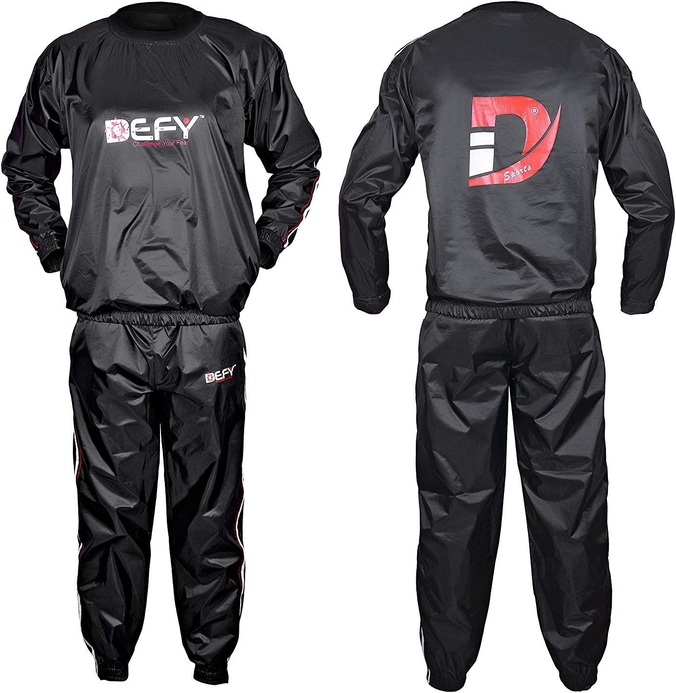 DEFY Heavy Duty Sauna Sweat Suit Exercise Training Gym Suit Fitness, Weight Loss, Anti-Rip New