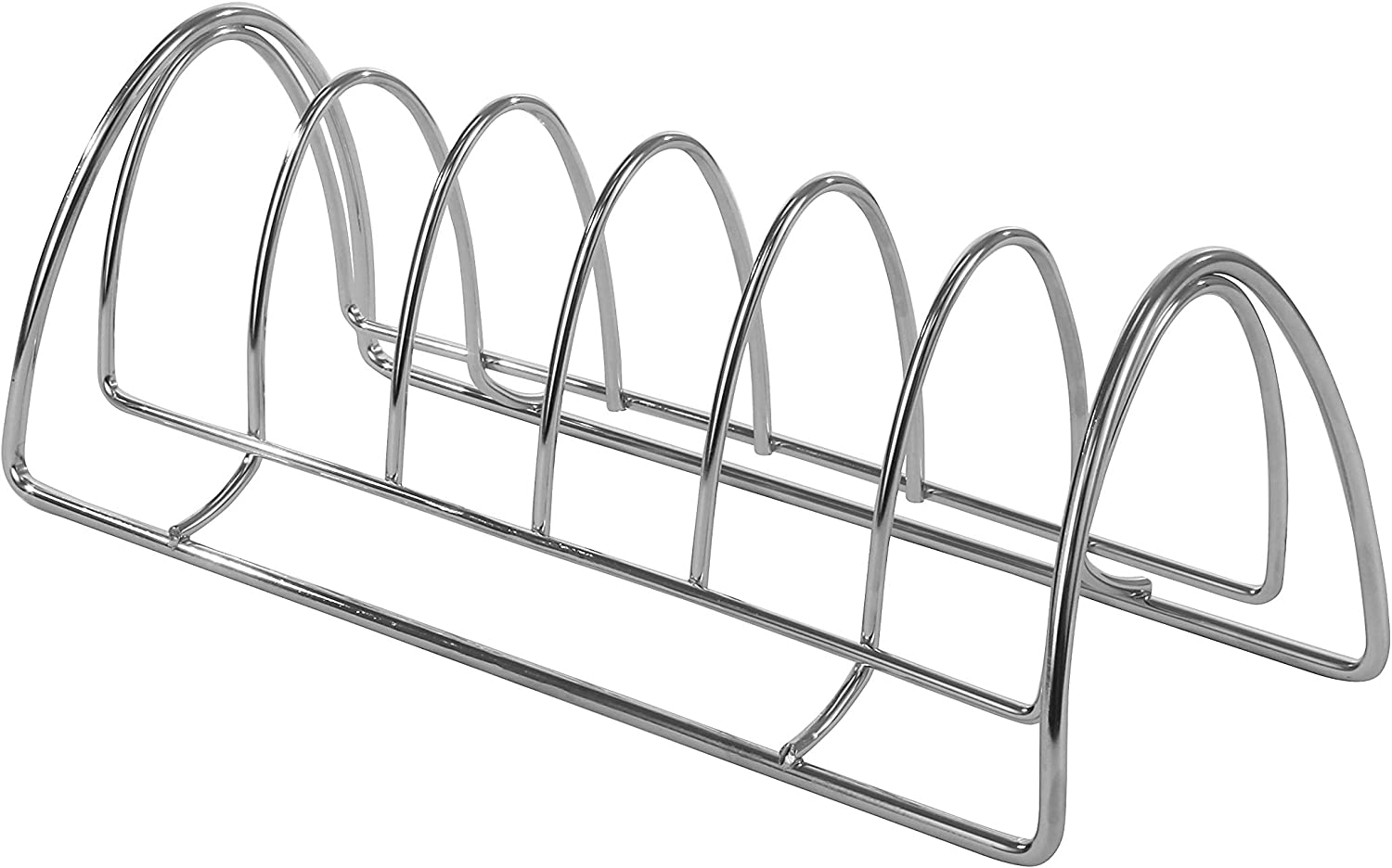 Spectrum Diversified St. Louis Kitchen Lid Holder Organizer for Plates, Cutting Boards Bakeware, Cooling Racks, Pots & Pans, Serving Trays, and Reusable Containers, Chrome