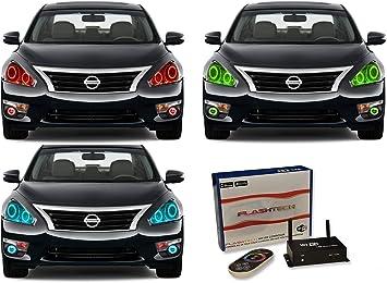 Flashtech Green LED Halo Ring Headlight Fog Light Kit for Dodge Ram 1500 06-08