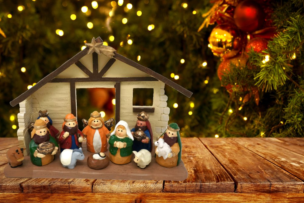 Amazon Large Size Kids Christmas Nativity Scene With Creche Set Of 12 Figures By One Holiday Lane Home Kitchen