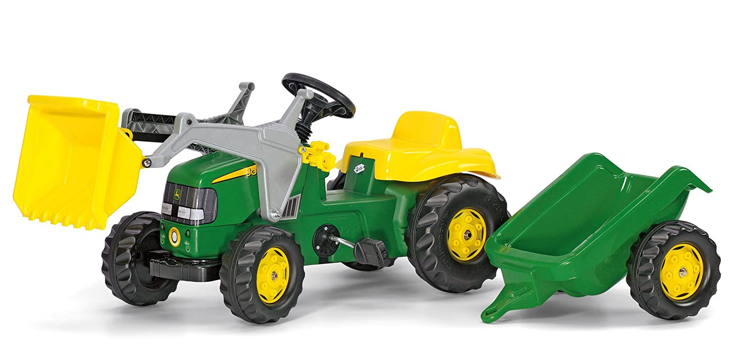 Rolly John Deere Kid Tractor with Trailer Ride On