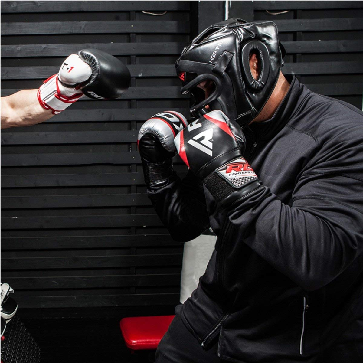 RDX Boxeo Cascos MMA Kickboxing Sparring Casco Protector Entrenamiento Lucha