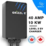 Grizzl-E Level 2 EV Charger, 16/24/32/40 Amp, NEMA 6-50/14-50 Plug, 18 feet/24 feet Premium/Regular Cable, Indoor…