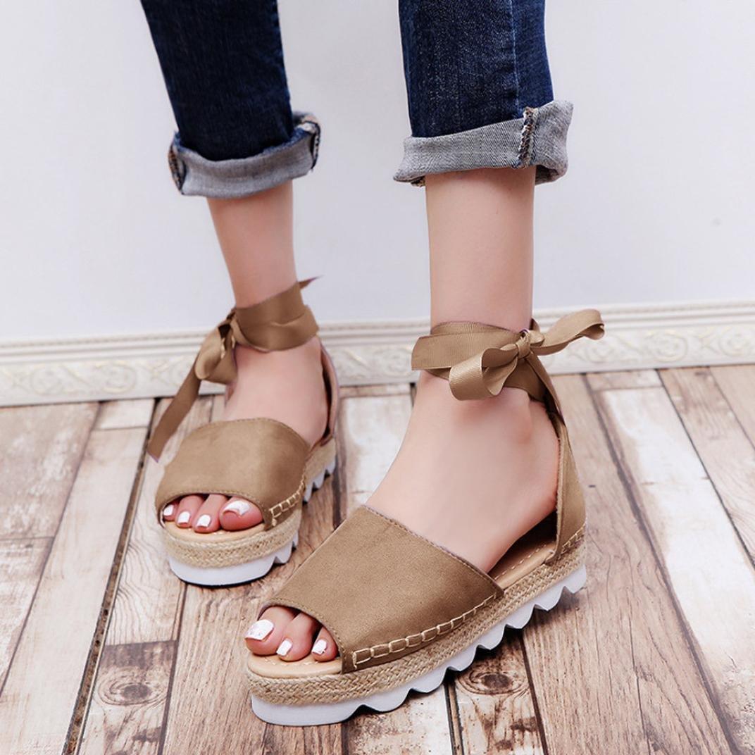 29238b2c5d3b4 Amazon.com: Women Flats Sandals,Hemlock Thick Bottom Sandals Wedges ...