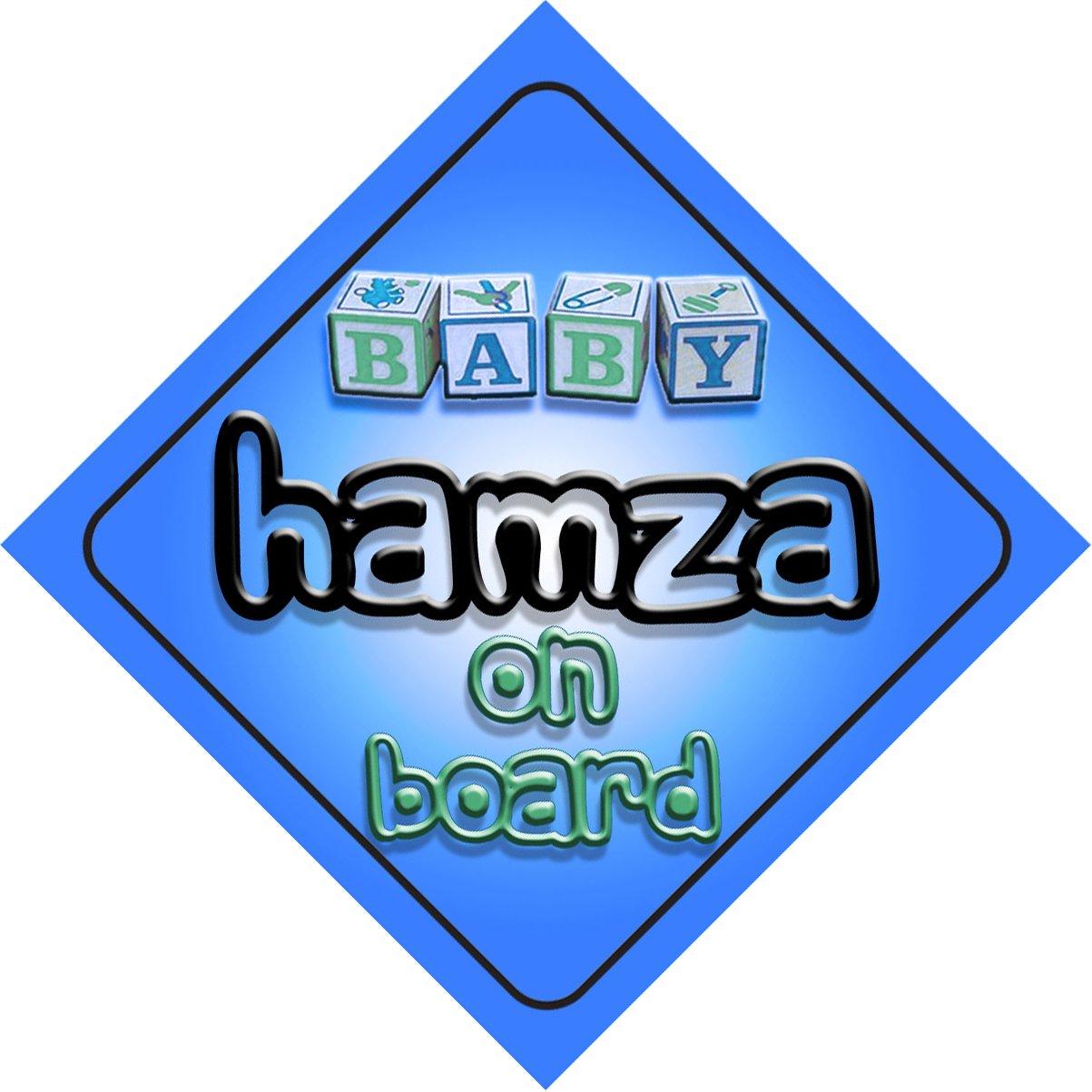 Bébé Garçon Hamza on Board fantaisie Panneau de voiture Cadeau/cadeau pour nouveau/enfant nouveau-né