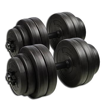 2 mancuernas pesas de discos de pesas para entrenamientos de fuerza maciza 30 kg
