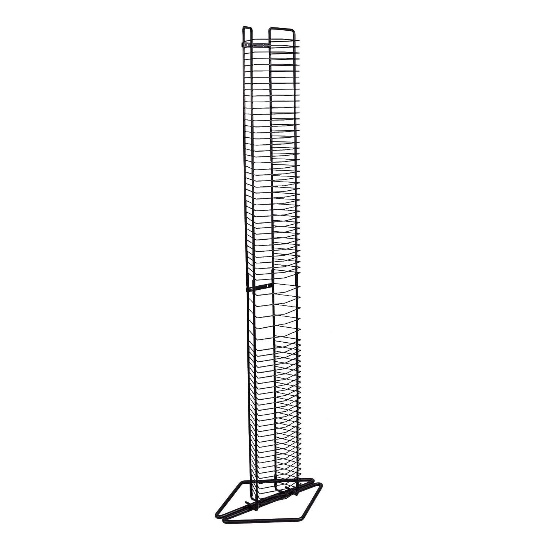 PN 1248 Atlantic Onyx Wire CD Tower Holds 80 CDs in Matte Black Steel