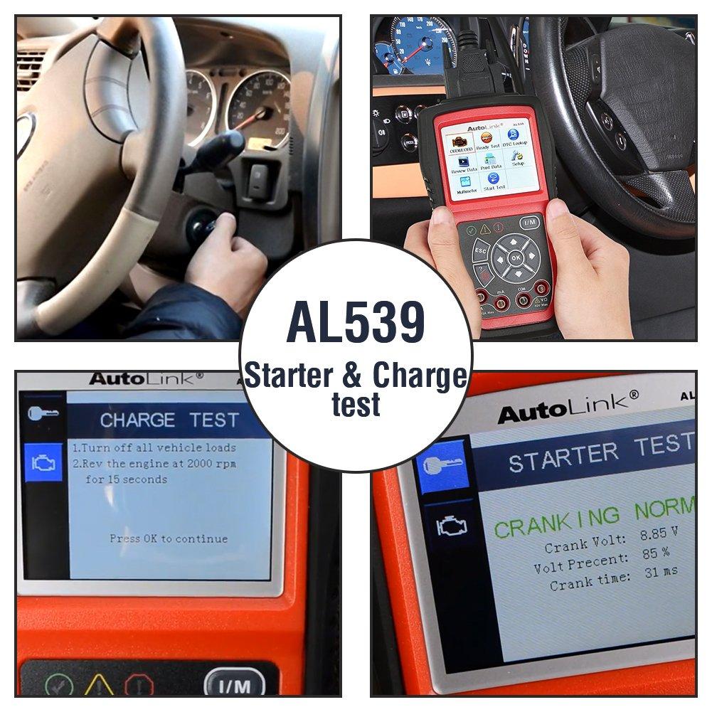 Diagnostic, Test & Measurement Tools Autel AL539 OBD2 Scanner Car ...