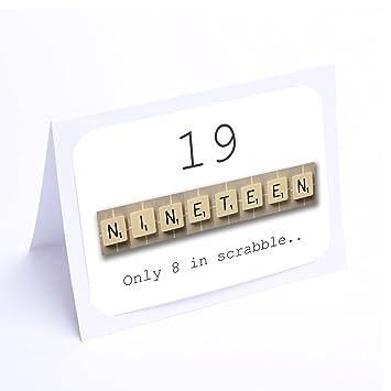 Birthday Cards Scrabble 19th Birthday Cards Amazon