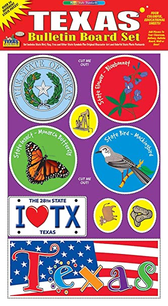 State of texas bulletin boards images diagram writing sample and amazon gallopade publishing group texas bulletin board set gallopade publishing group texas bulletin board set 9780635011053 sciox Image collections