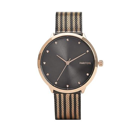 Parfois - Reloj Stripes - Mujeres - Tallas Única - Dorado: Amazon.es: Relojes