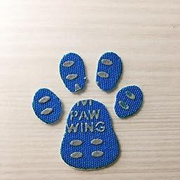 Amazon Paw Wing パウ ウイング 犬 用 パッド くつ ペット 靴下 滑り止め 肉球 保護 傷防止 すべり 止め フット パッド 48枚入り 4枚 12セット ピンク M 暮らしの幸便 服 アクセサリー 通販