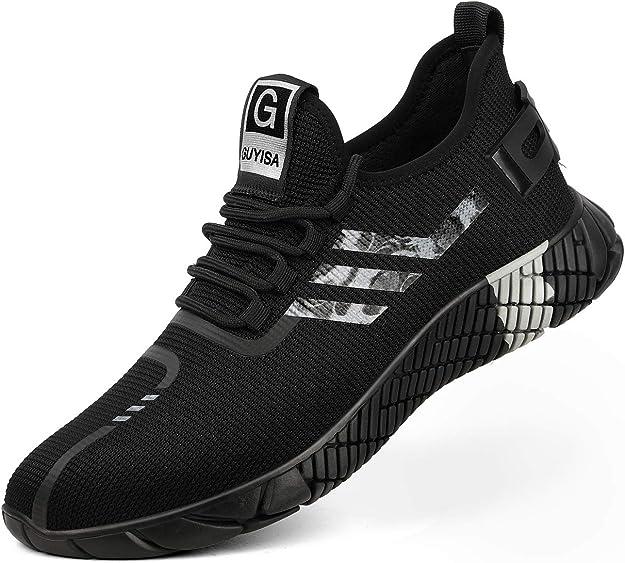 Kefuwu Zapatillas de Seguridad Hombre Ligero Transpirable Zapatos de Seguridad con Puntera de Acero Anti-pinchazo Calzado de Seguridad: Amazon.es: Zapatos y complementos