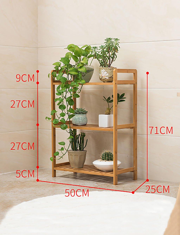 Einfache Kreative Holz Blumenregal Mehrschichtige Blumenregal Regal Balkon Boden Pflanzer Regal Einfache Moderne Wohnzimmer Indoor Blumenregal (9 Styles) ( farbe : B )