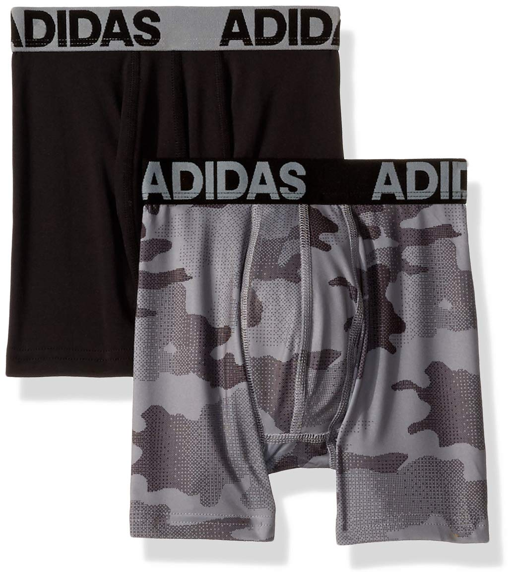 adidas Boys' ClimaLite Boxer Brief (2 Pack) Agron Underwear