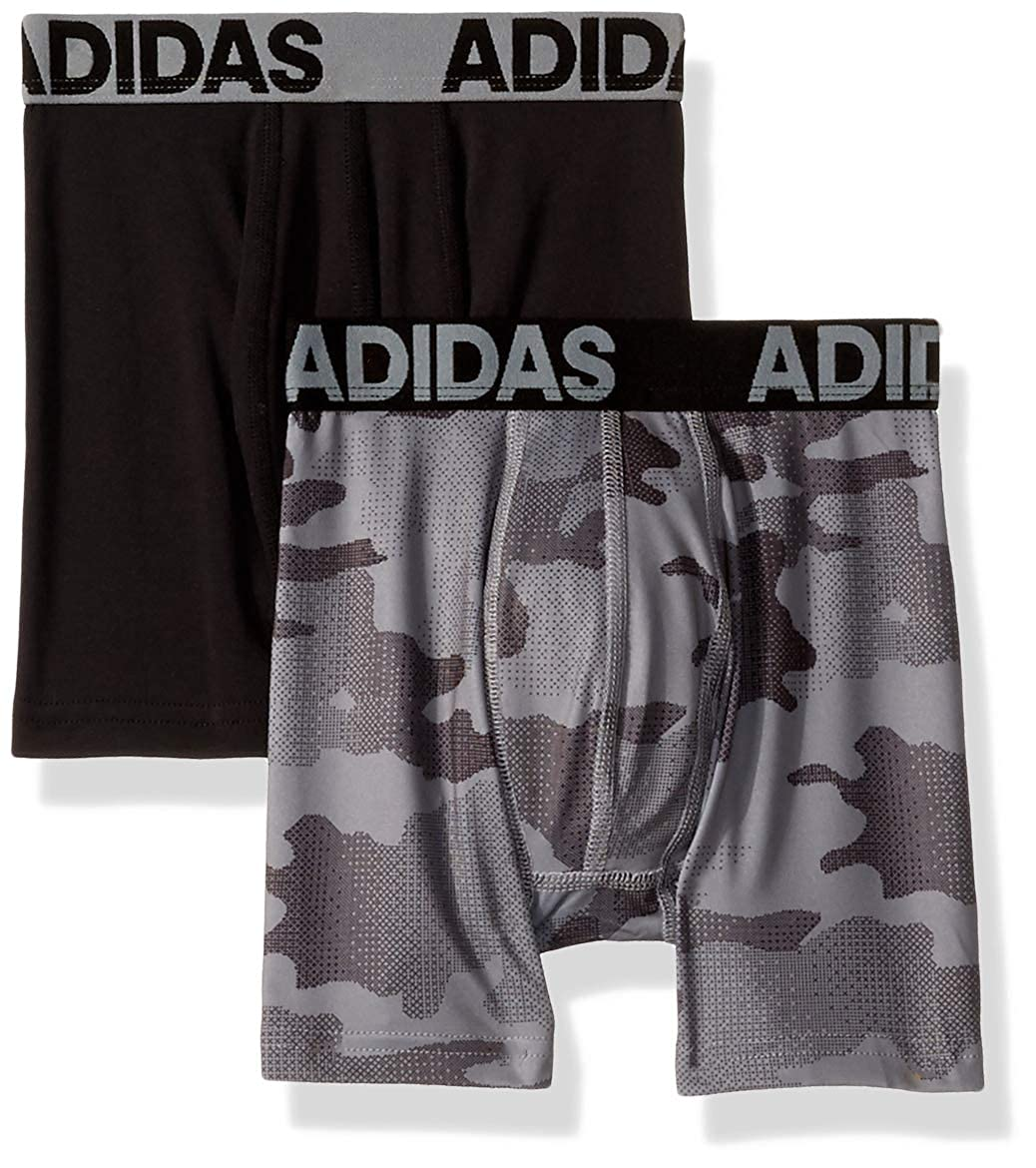 16070d246efe5 adidas Boys / Youth Sport Performance Climalite Boxer Brief Underwear  (2-Pack)