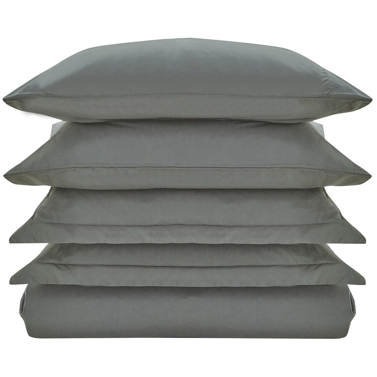 Mellanni Duvet Cover Set Gray - Double Brushed Microfiber 1800 Bedding Collection with Extra Pillowcase - Wrinkle, Fade, Stain Resistant - Hypoallergenic - 3 Piece (Twin/Twin XL, Gray) by Mellanni