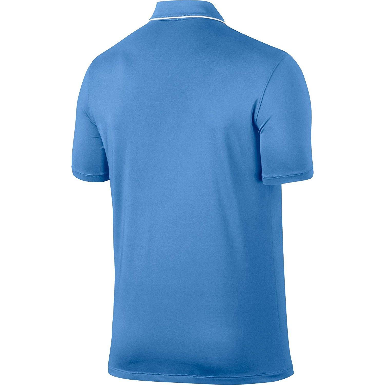 Nike Los Hombres de sólidos Secos Polo de Golf (Universidad Azul ...