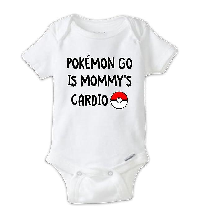 01c798c1 Amazon.com: Juju Apparel Pokemon Go Is Mommy's Cardio Baby Bodysuit, Funny  Onesie (Newborn): Clothing