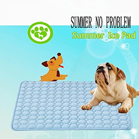 Komener Perro Pet Self Cooling Mat Gel Hielo Pad Cama Gato Kitty Cojín térmica Hot Blue