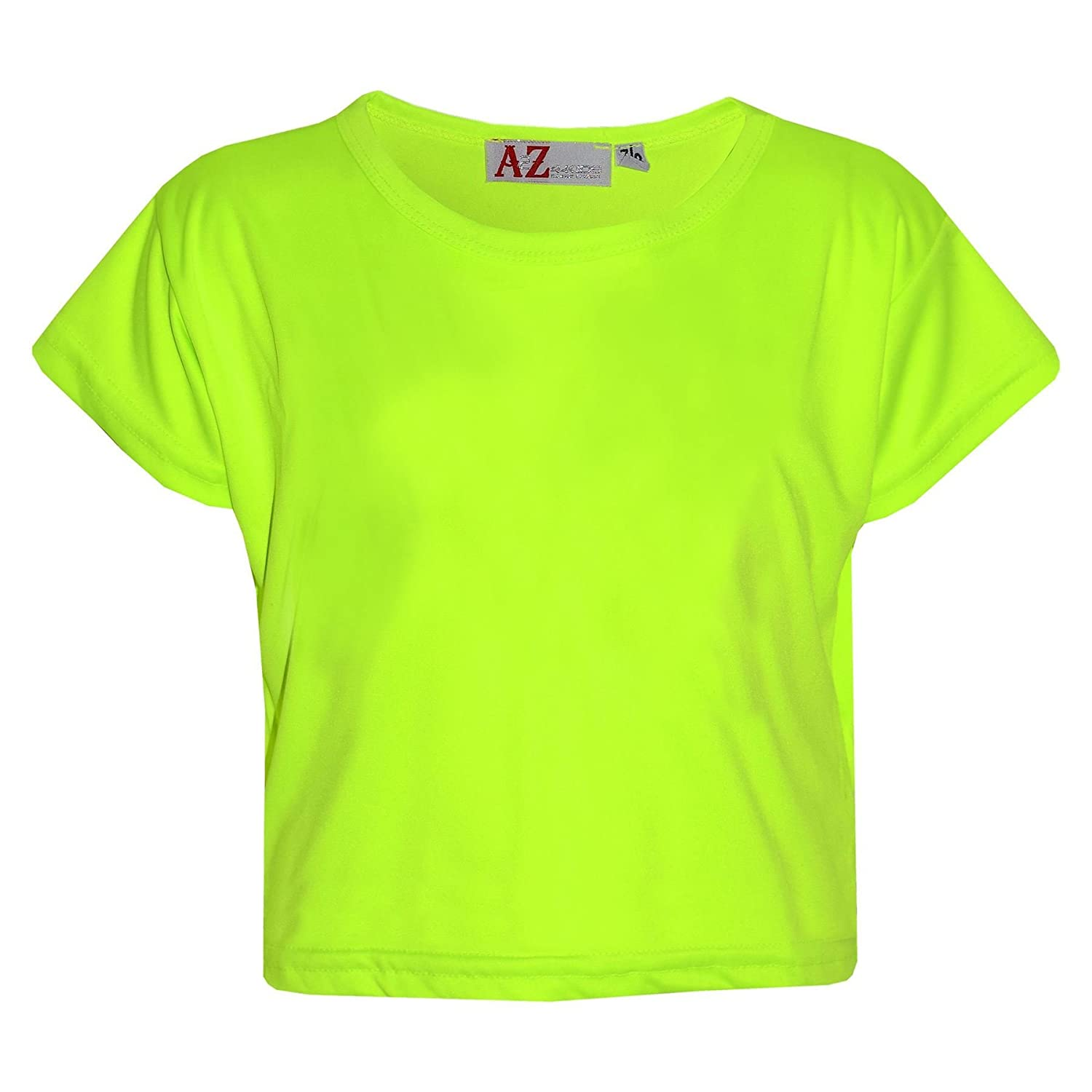 A2Z 4 Kids® Girls Top Kids Plain Color Stylish Fahsion Trendy T Shirt Crop Top New Age 5 6 7 8 9 10 11 12 13 Years