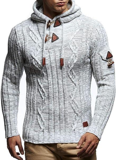 LEIF NELSON Herren Strick-Pullover Rollkragen Slim Fit f/ür Winter Sommer Moderner schwarzer M/änner Winterpullover Sweatshirt Langarmshirt Herren Basic Hoodie-Shirt
